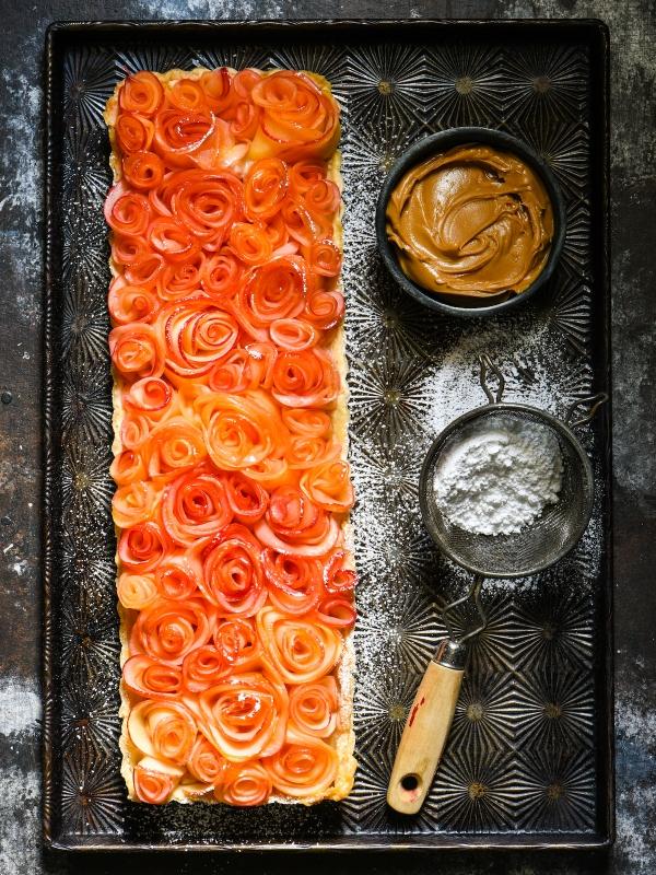 Apple Rose Tart with Peanut Butter Custard-2
