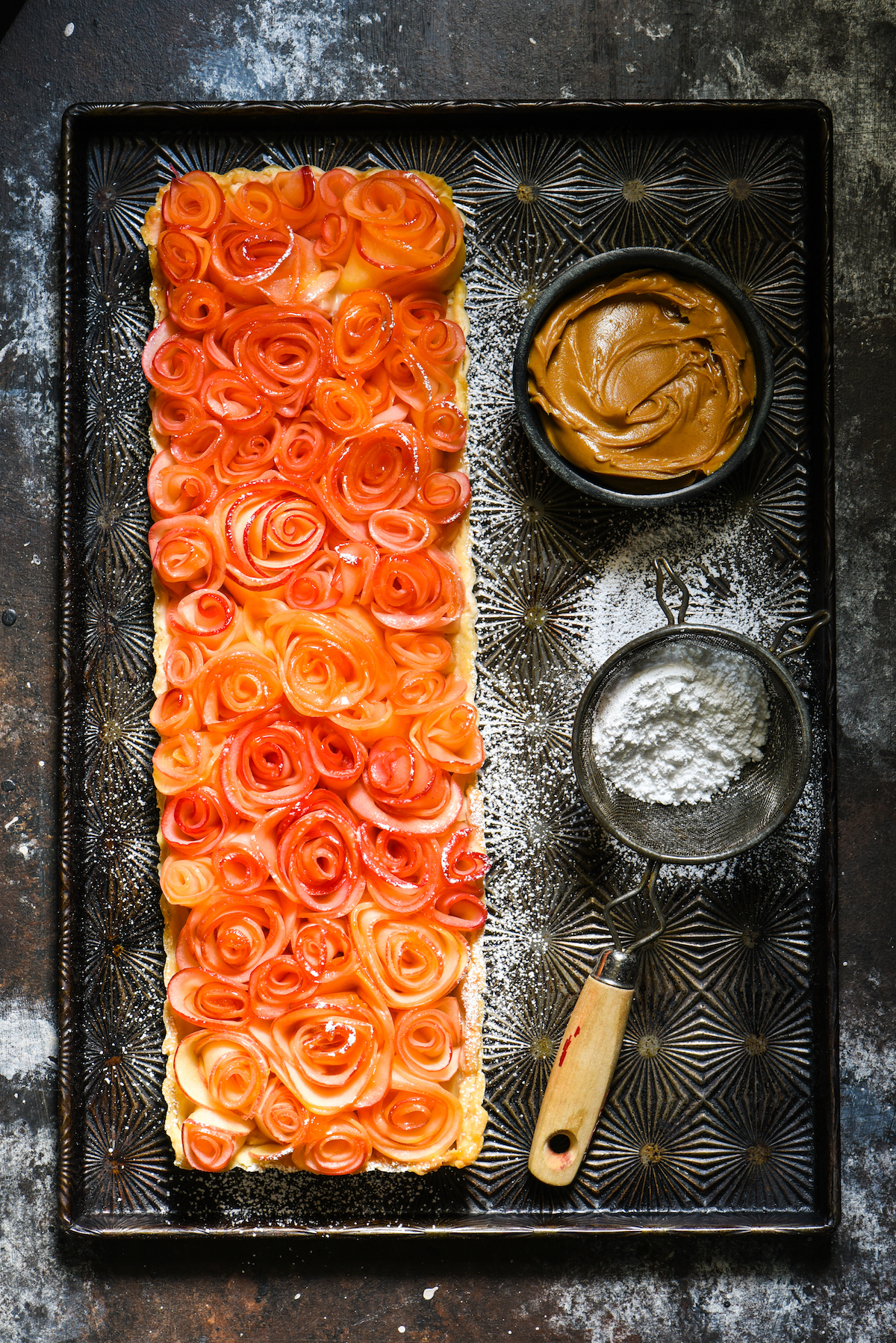 Apple Rose Tart with Peanut Butter Custard-2