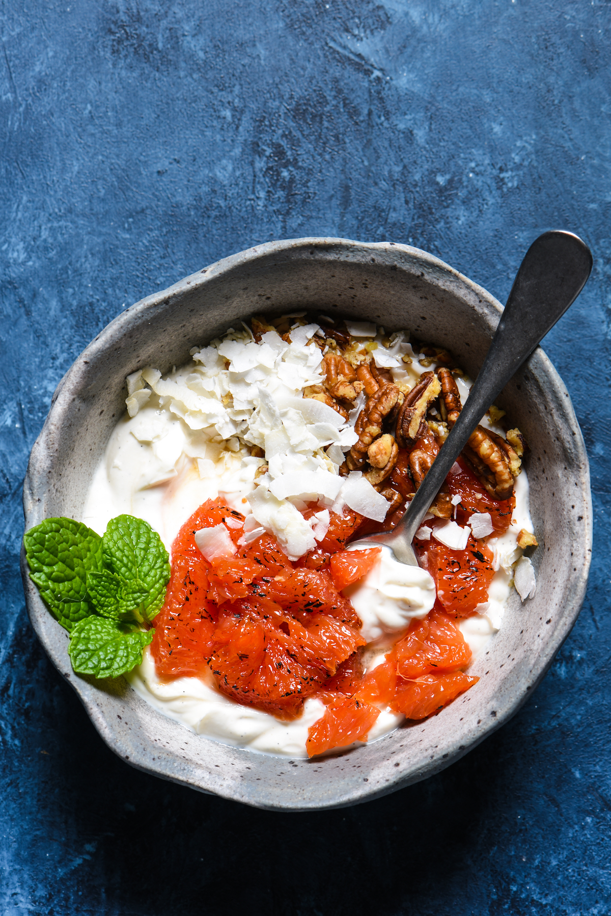 Caramelized Grapefruit Parfait Bowl-3