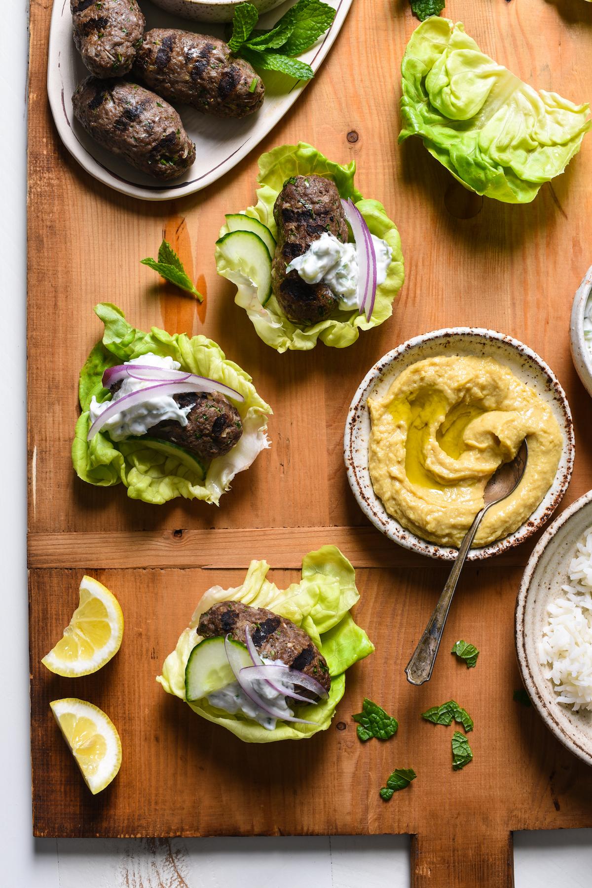 Grilled Kafta Lettuce Wraps-2