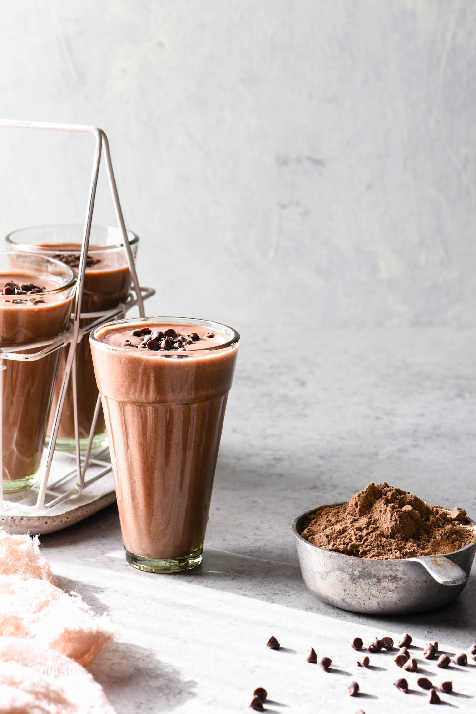High Protein Cocoa Smoothie-5