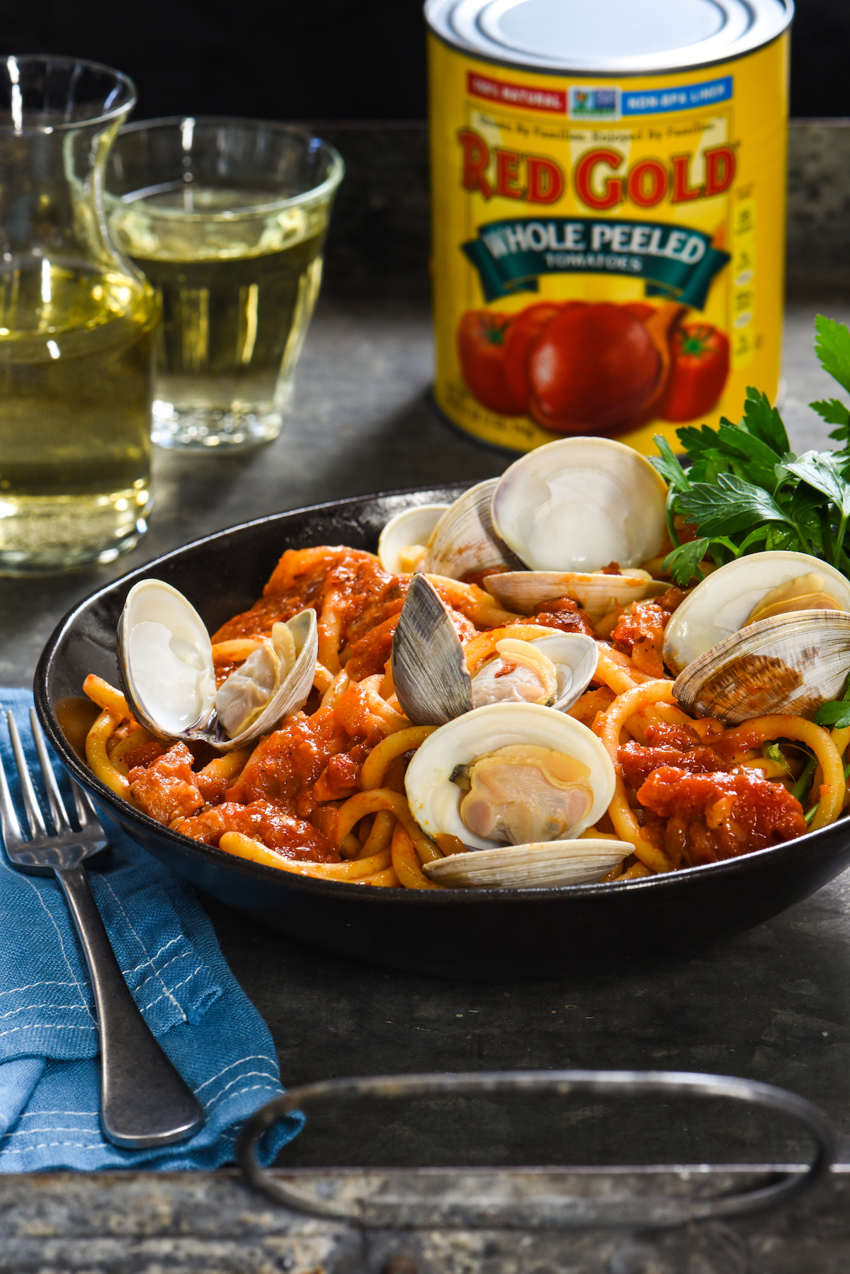 Pasta all'Amatriciana with Clams_-6