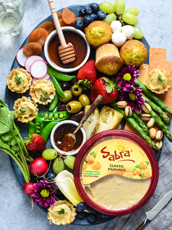 Spring Snack Board with Hummus Phyllo Bites-2