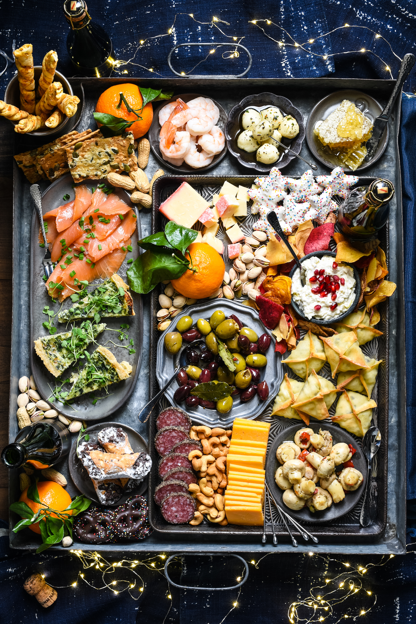 New Year's Eve Snack Board